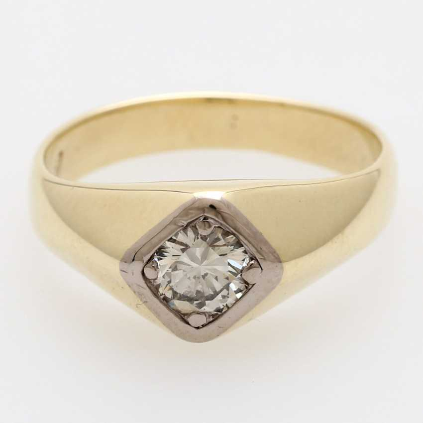 Solitaire ring m. 1 diamond old European cut / transitional cut - photo 1