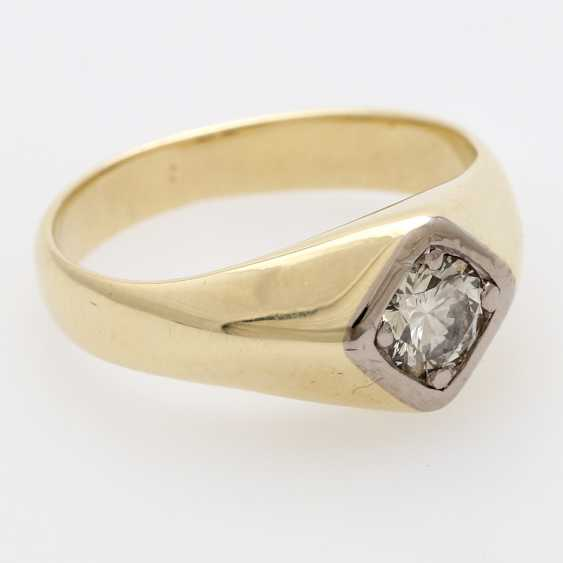 Solitaire ring m. 1 diamond old European cut / transitional cut - photo 2