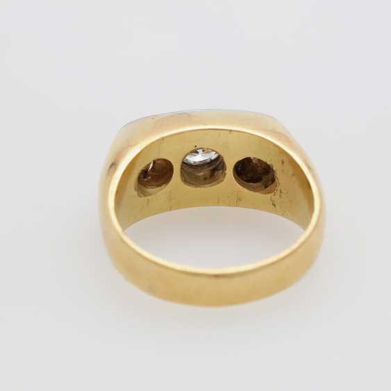 Ring with 3 diamonds - photo 4