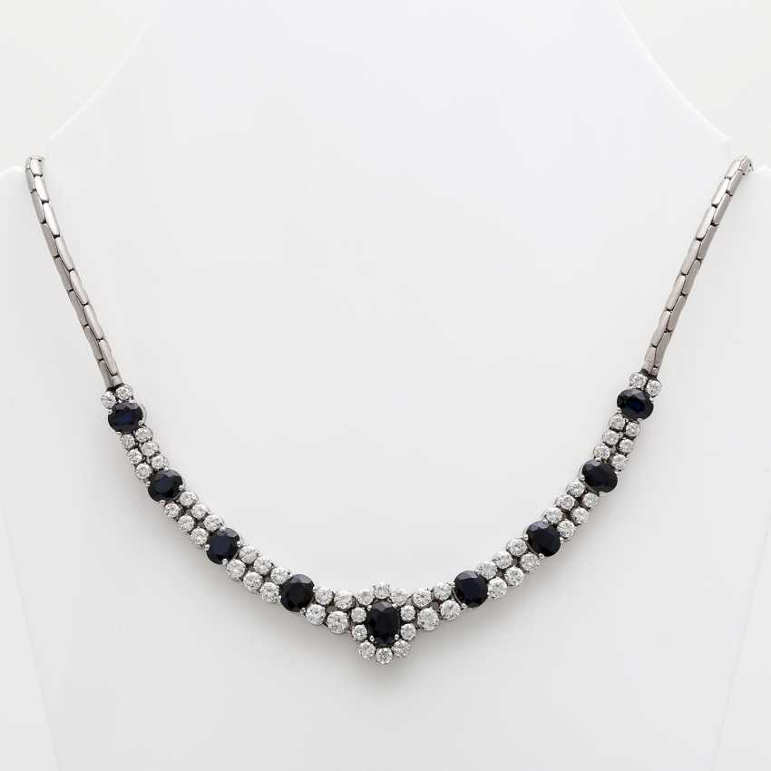 Necklace with sapphires and brilliant tenanten - photo 1