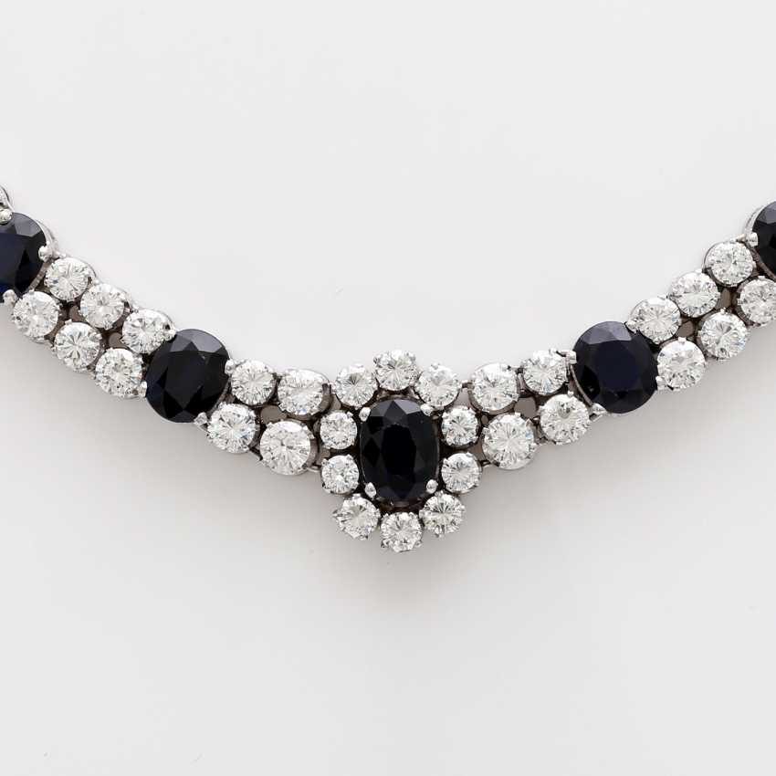 Necklace with sapphires and brilliant tenanten - photo 2