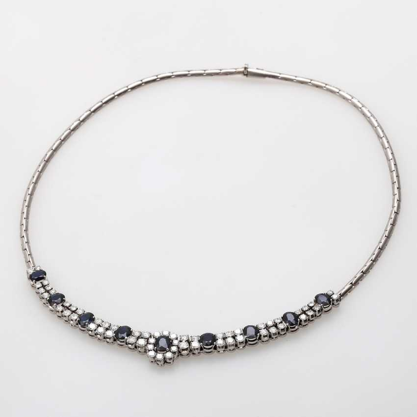Necklace with sapphires and brilliant tenanten - photo 3