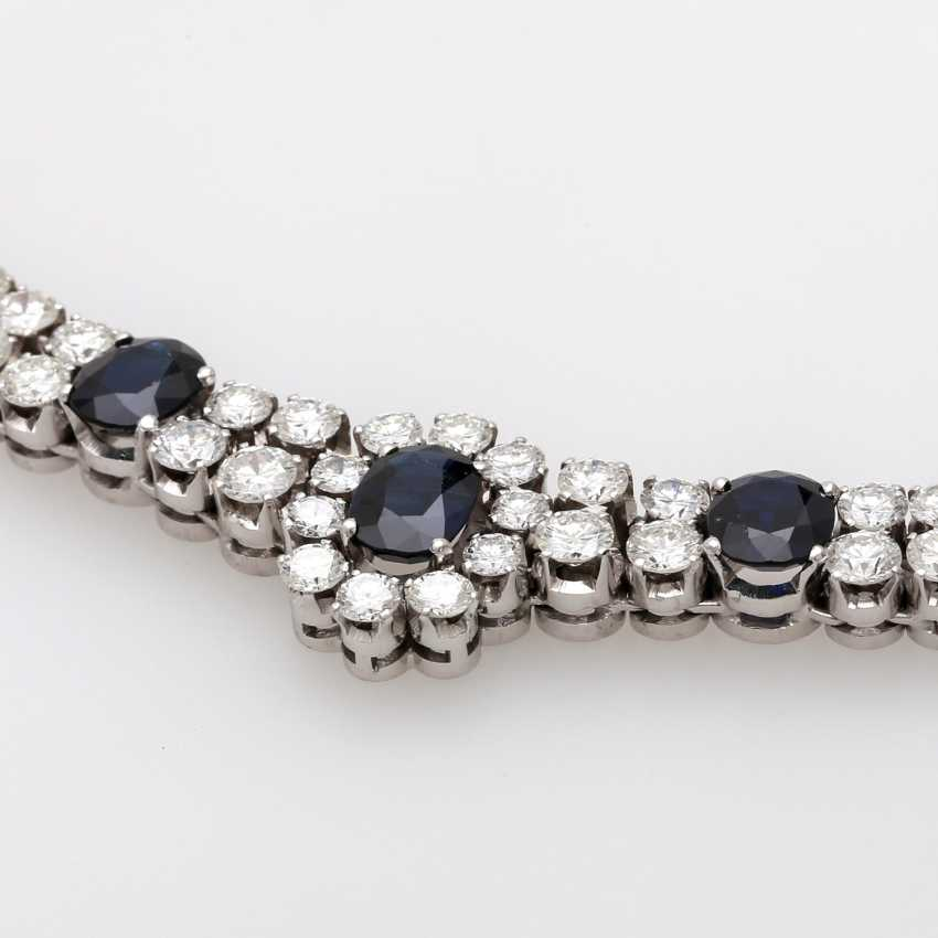 Necklace with sapphires and brilliant tenanten - photo 4