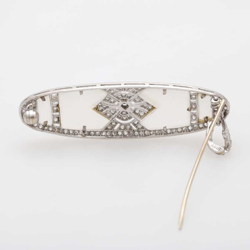 ART DECO pendant/ brooch with oval rock crystal, - photo 4