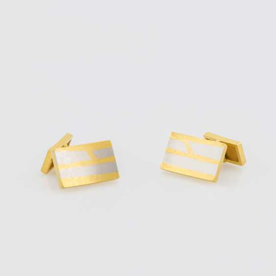Cufflinks (Pair) Yellow Gold 900 Platinum - photo 1