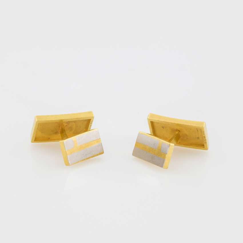 Cufflinks (Pair) Yellow Gold 900 Platinum - photo 2