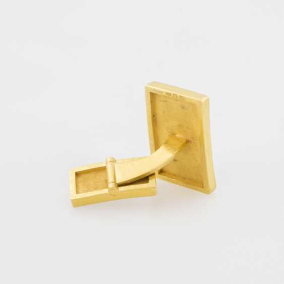 Cufflinks (Pair) Yellow Gold 900 Platinum - photo 3