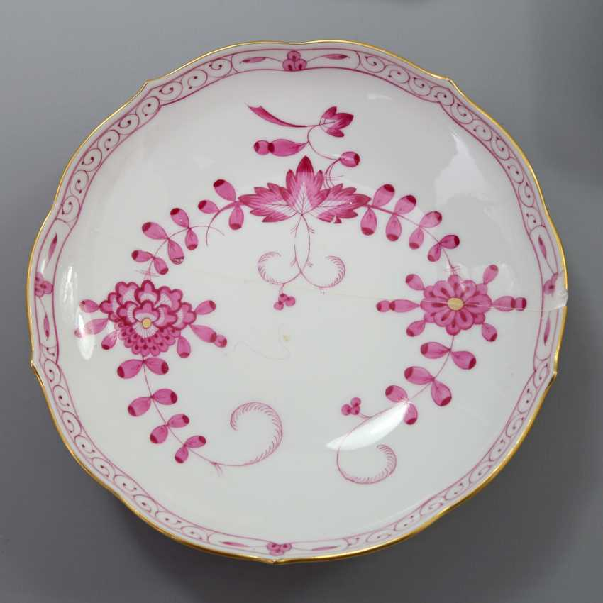 MEISSEN coffee service for 7 persons, 'Indian painting purple', 20. Century - photo 3