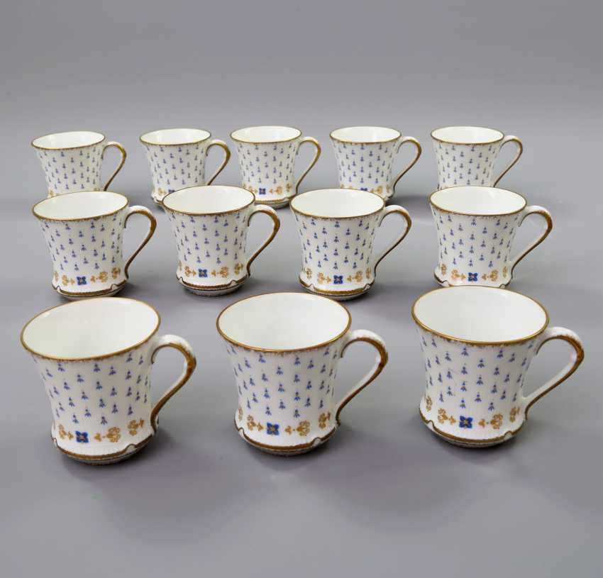 LIMOGES GDA coffee service for 12 persons 'Anjou', 20. Century - photo 4