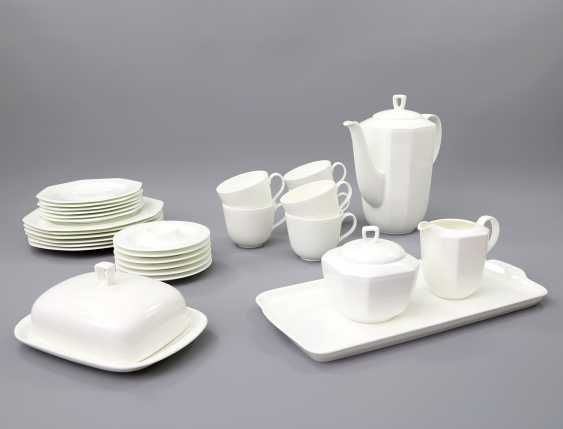 HUTSCHENREUTHER coffee service for 6 persons 'Octacia white', 20. Century - photo 1