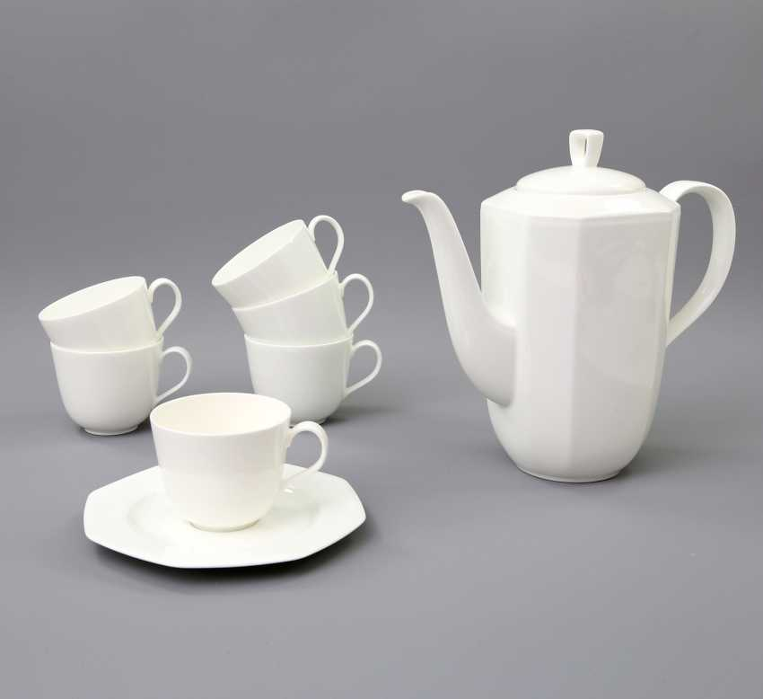 HUTSCHENREUTHER coffee service for 6 persons 'Octacia white', 20. Century - photo 2
