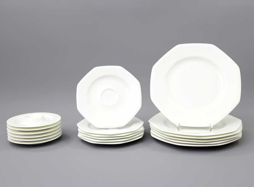 HUTSCHENREUTHER coffee service for 6 persons 'Octacia white', 20. Century - photo 3