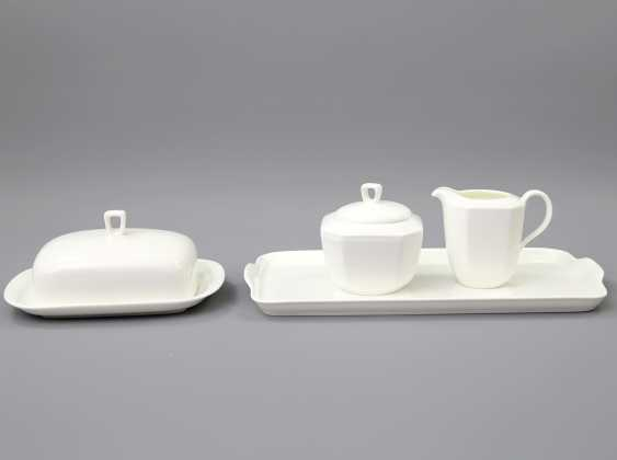 HUTSCHENREUTHER coffee service for 6 persons 'Octacia white', 20. Century - photo 4