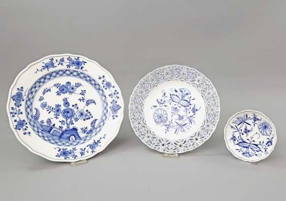 MEISSEN group of 3 plates, 20. Century: - photo 1