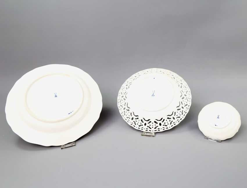 MEISSEN group of 3 plates, 20. Century: - photo 2