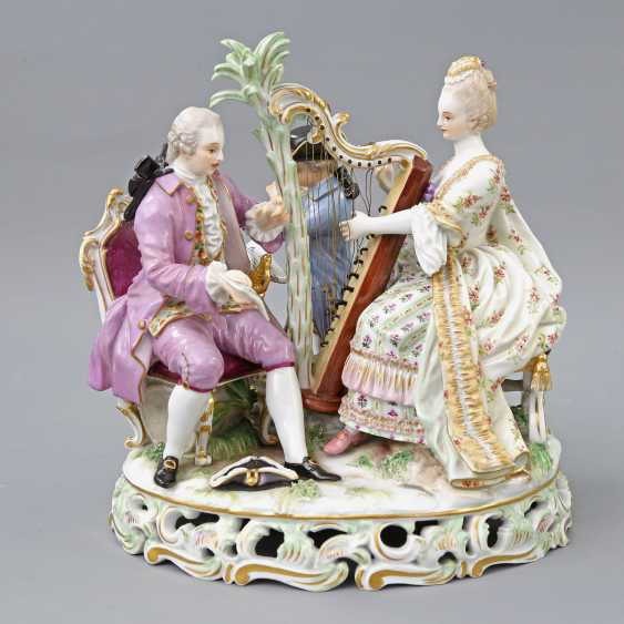 MEISSEN figure group 'The music', about 1900. - photo 1
