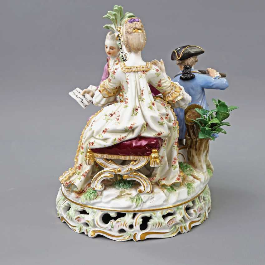 MEISSEN figure group 'The music', about 1900. - photo 2