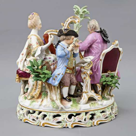 MEISSEN figure group 'The music', about 1900. - photo 3