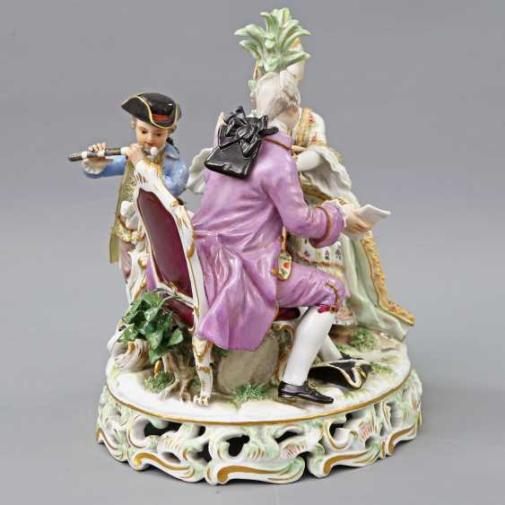 MEISSEN figure group 'The music', about 1900. - photo 6