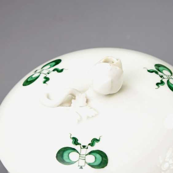 MEISSEN coffee tea service for 11 people, 'Green Ming dragon', 20. Century, 2 Grinding Lines. - photo 3