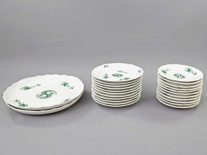 MEISSEN coffee tea service for 11 people, 'Green Ming dragon', 20. Century, 2 Grinding Lines. - photo 6