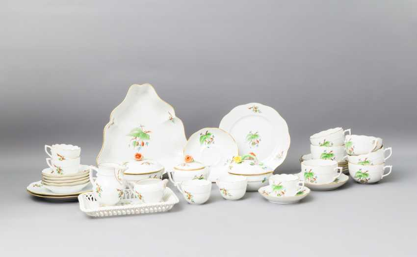 HEREND tea - and mocha service for 5-6 persons, 20. Century - photo 1