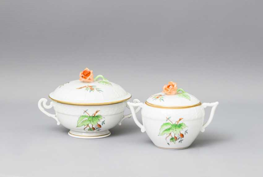 HEREND tea - and mocha service for 5-6 persons, 20. Century - photo 4