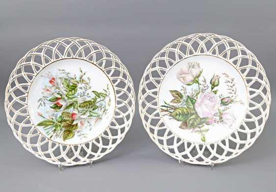 HUTSCHENREUTHER Pair of breakthrough plate, 1865-1872. - photo 1
