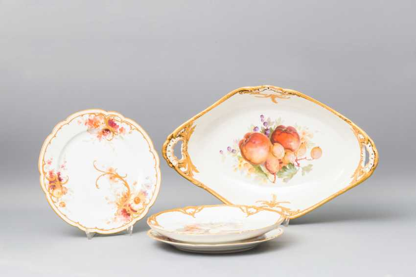 KPM vintage Cup and 3 plates, 20. Century - photo 1