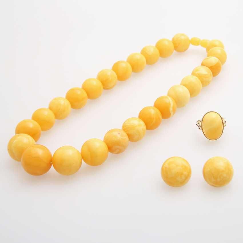 Jewelry amber jewelry, 4pcs - photo 1