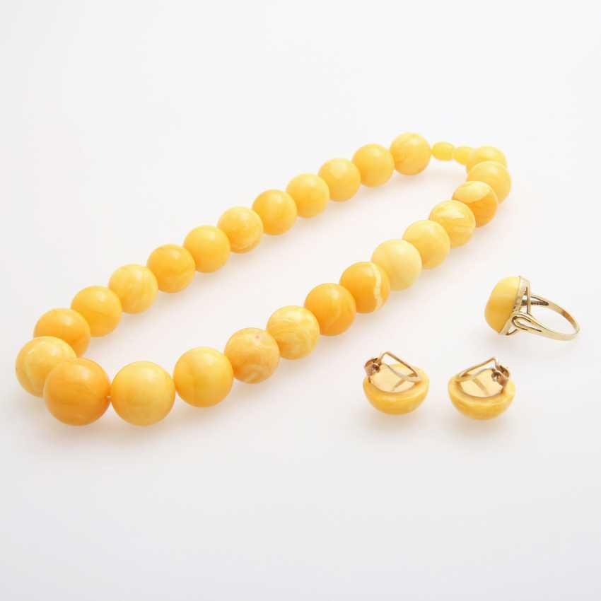 Jewelry amber jewelry, 4pcs - photo 2