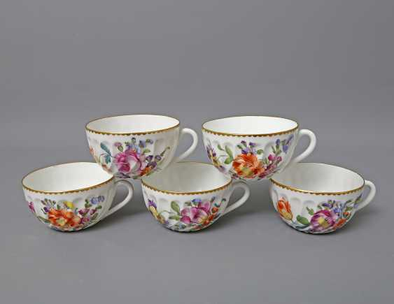 Nymphenbu rose gold coffee or tea service for 5 people, 20. Century - photo 4