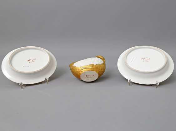 WEANED Schwanensauciére mit 2 Untertassen, 1804-1815. - photo 4