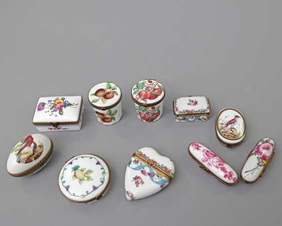 LIMOGES 10 lid tins, 20. Century - photo 2