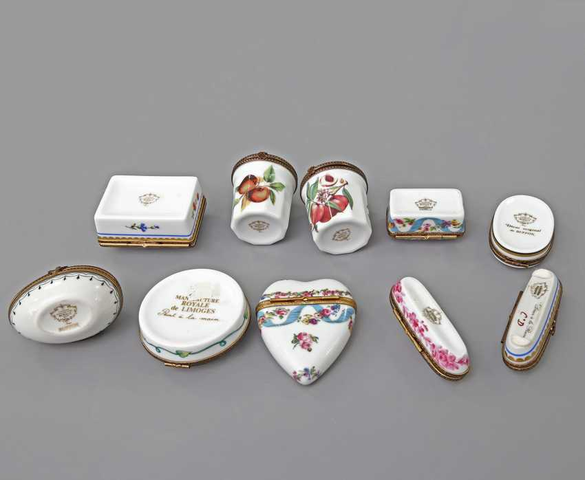 LIMOGES 10 lid tins, 20. Century - photo 5