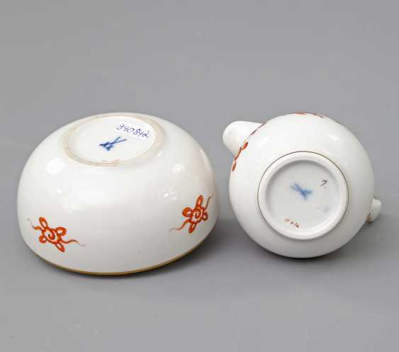 MEISSEN cream jug and lidded box with Dragon patterns, 20. Century - photo 6