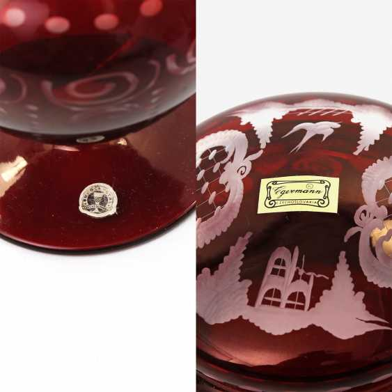 EGERMANN kidney pack 2 PCs small Vase and candy, around 1900 - photo 4