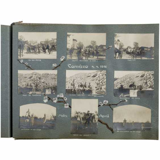 "Photo album ""Landwehr-field-haubitz-Division No. 13"" - use on the Alpine front in the 1. World war, cigarette case made of silver - photo 2"