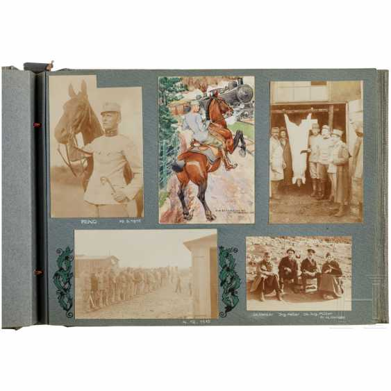 "Photo album ""Landwehr-field-haubitz-Division No. 13"" - use on the Alpine front in the 1. World war, cigarette case made of silver - photo 3"