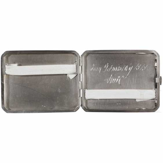 "Photo album ""Landwehr-field-haubitz-Division No. 13"" - use on the Alpine front in the 1. World war, cigarette case made of silver - photo 5"