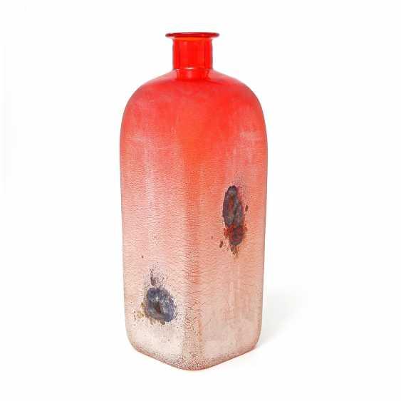 MURANO BARBINI red Vase, 20. Century - photo 1