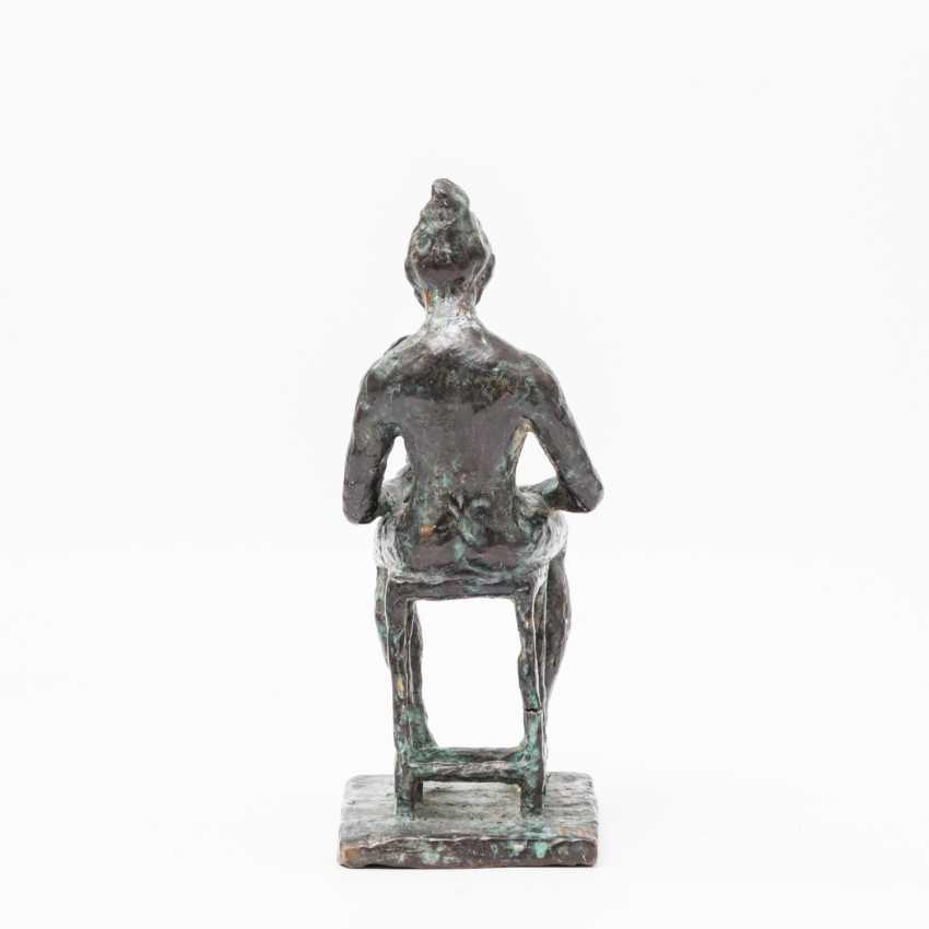 "Monogram crap MP (sculptor 20. Century; well-Lörcher-student), the Bronze ""lady with mirror"", - photo 3"