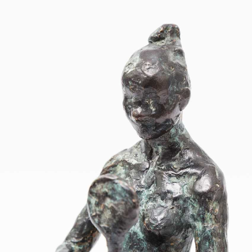 "Monogram crap MP (sculptor 20. Century; well-Lörcher-student), the Bronze ""lady with mirror"", - photo 4"