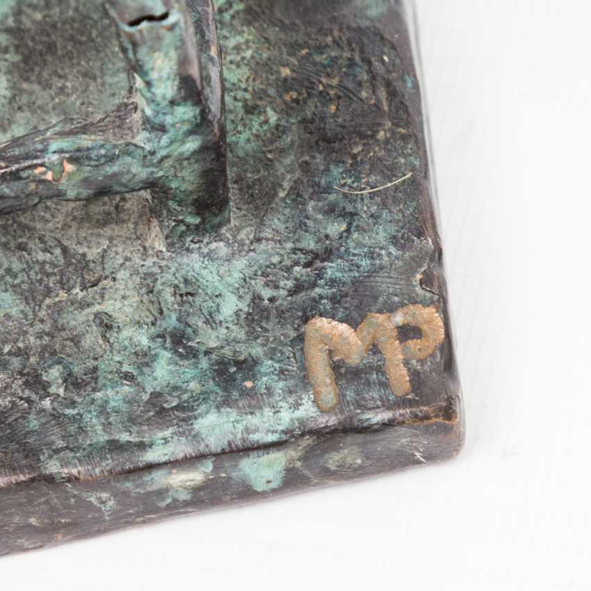 "Monogram crap MP (sculptor 20. Century; well-Lörcher-student), the Bronze ""lady with mirror"", - photo 5"