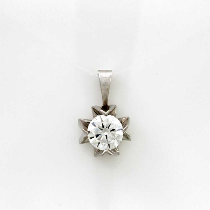 Pendant White Gold 14 K - photo 1