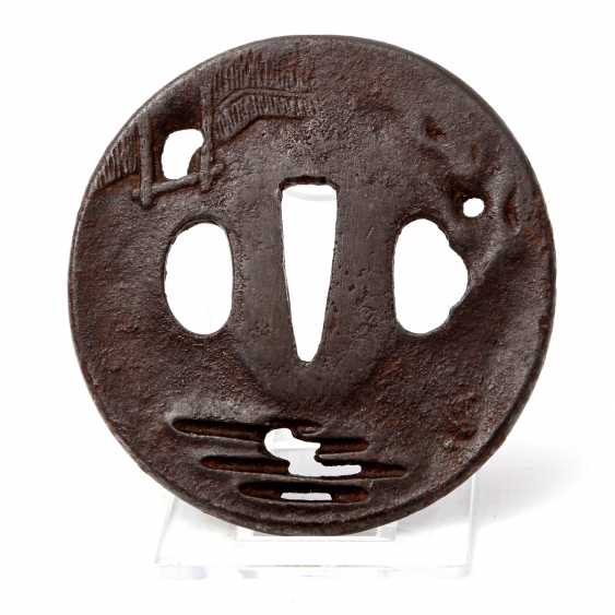 Tsuba made of iron. JAPAN, Edo period (1603-1868) - photo 1