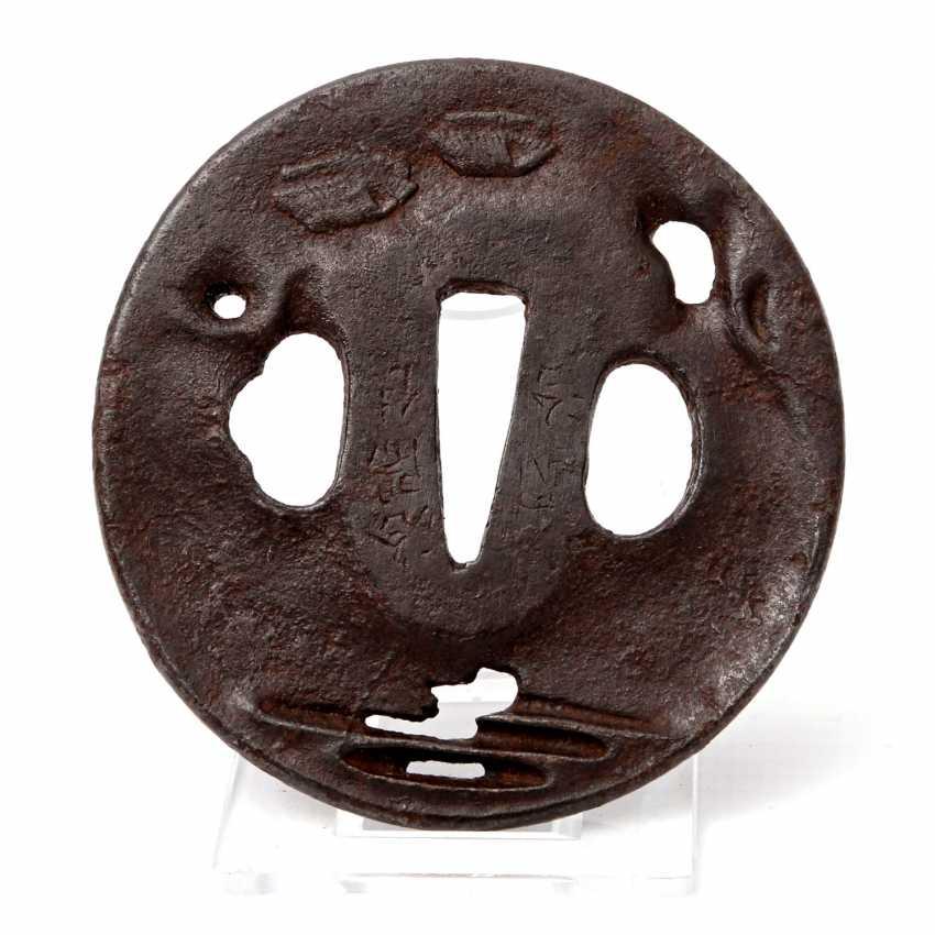 Tsuba made of iron. JAPAN, Edo period (1603-1868) - photo 2