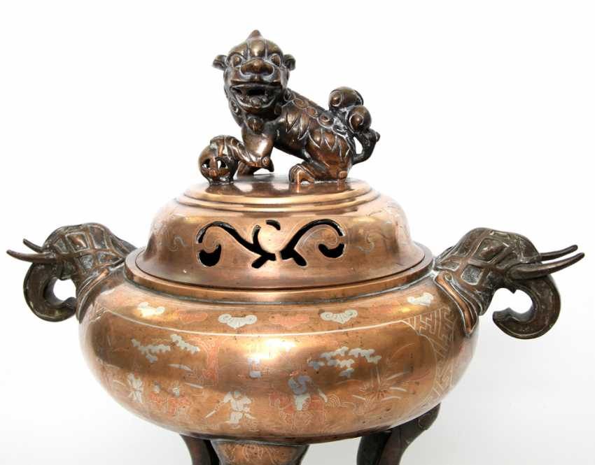 Incense burner made of Bronze. CHINA, around 1900 or earlier - photo 2