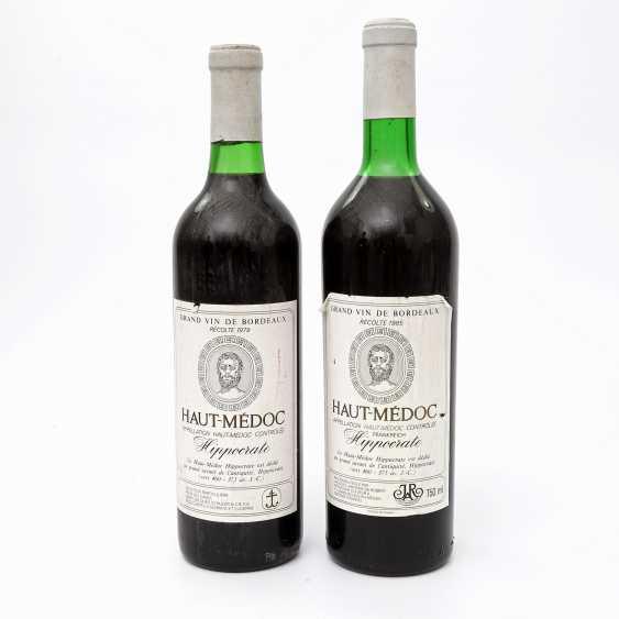 Jacques Antoine Robert HAUT-MÉDOC Hippocrates, 2 Bottles, 1979/1985 - photo 1