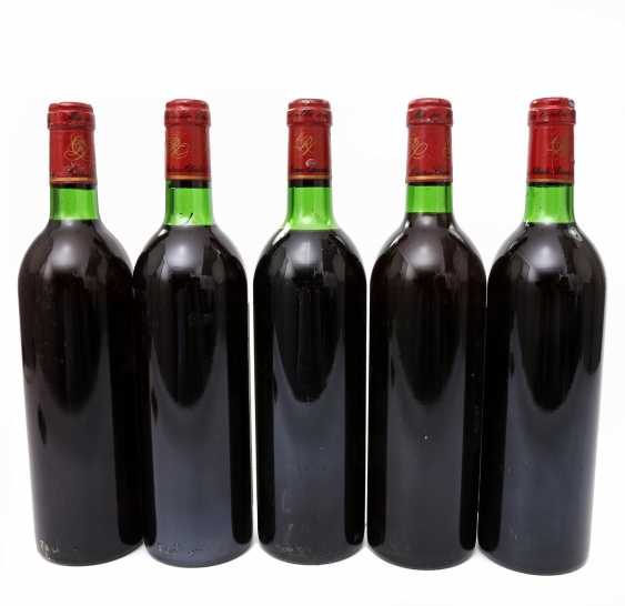 5 bottles of CHATEAU CLARKE Baron de Rothschild, 4x1980 / 1x1981 - photo 3